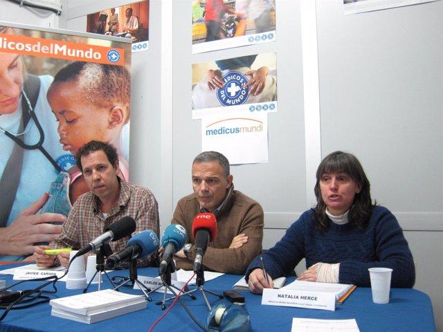 Javier Cañada, Carlos Mediano y Natalia Herce.