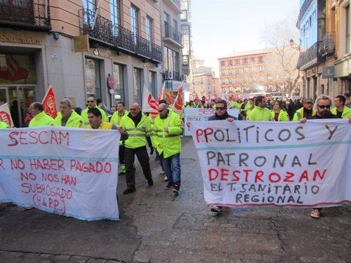 Manifestación trabajadores ambulancias