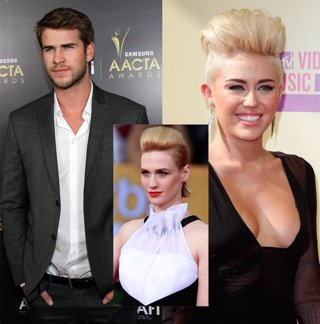 Liam Hemsworth, January Jones y Miley