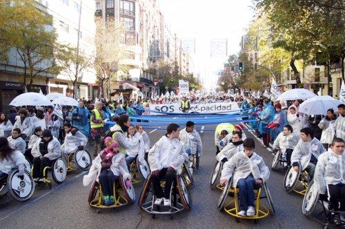 Marcha de CERMI en Madrid