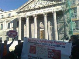 Protesta contra los desahucios