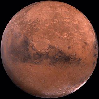Imagen tomada por la NASA del planeta Marte