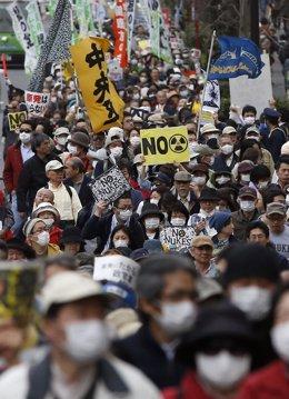 Protesta en Tokio contra la energía nuclear