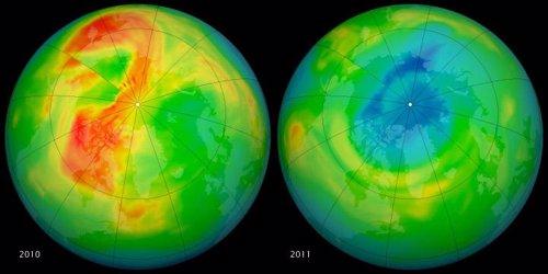 Agujero de ozono en el Ártico