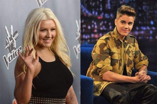 Christina Aguilera y Justin Bieber
