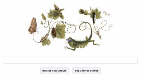 Doodle homenaje a Maria Sibylla Merian