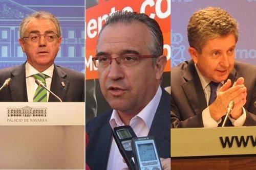 Miguel Sanz, Álvaro Miranda y Enrique Maya