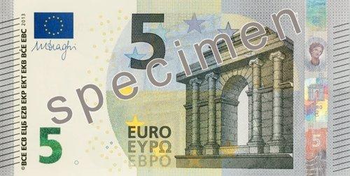 Billete 5 euros serie 'Europa'