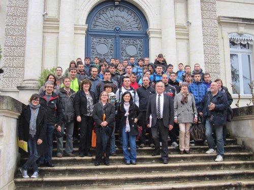 Integrantes de la delegación navarra en el proyecto 'Río y patrimonio'