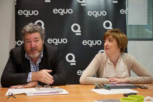 Juan López de Uralde y Reyes Montiel, portavoces del partido Equo