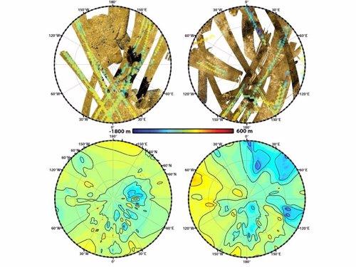 Mapa Topográfico de Titán