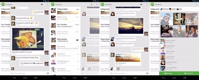 Pantallas Google Hangouts app