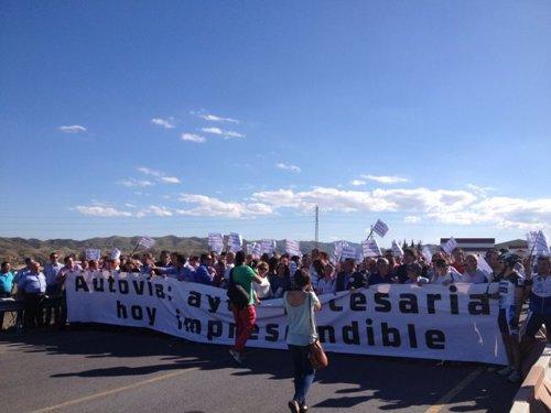 Manifestación en la Autovía del Almanzora