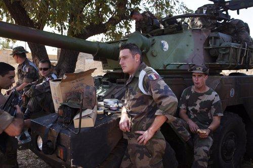 Soldados franceses desplegados en Malí