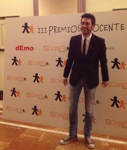 El humorista leonés Dani Martínez, en la gala de los Premios Inocente