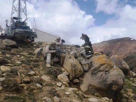 Militares españoles en operación contra insurgentes en Badghis