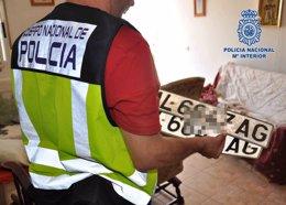 Placas falsas intervenidas durante la operación Pimienta