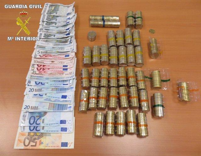 Imagen del dinero recuperado