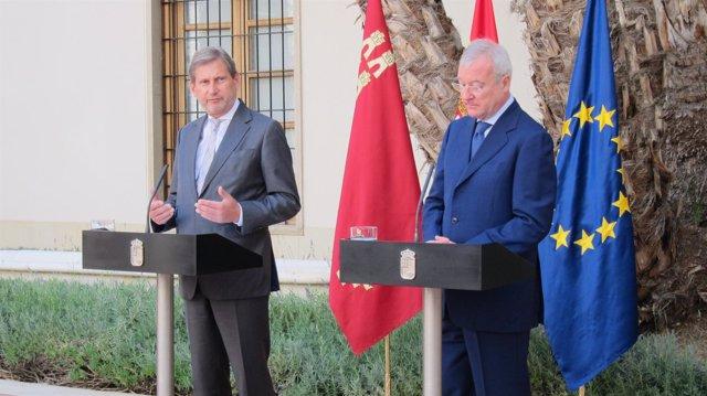 El comisario europeo de Política Regional, Johannes Hahn y Valcárcel