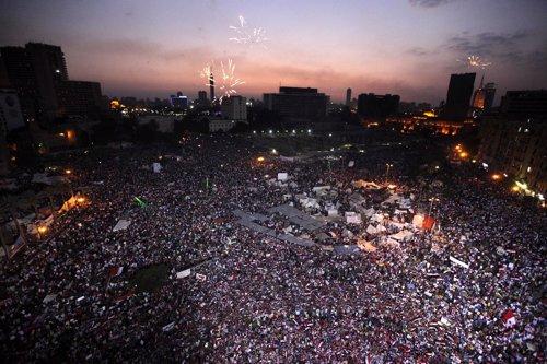 Plaza Tahrir en Egipto