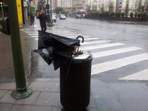 Viento, lluvia, temporal en Cantabria