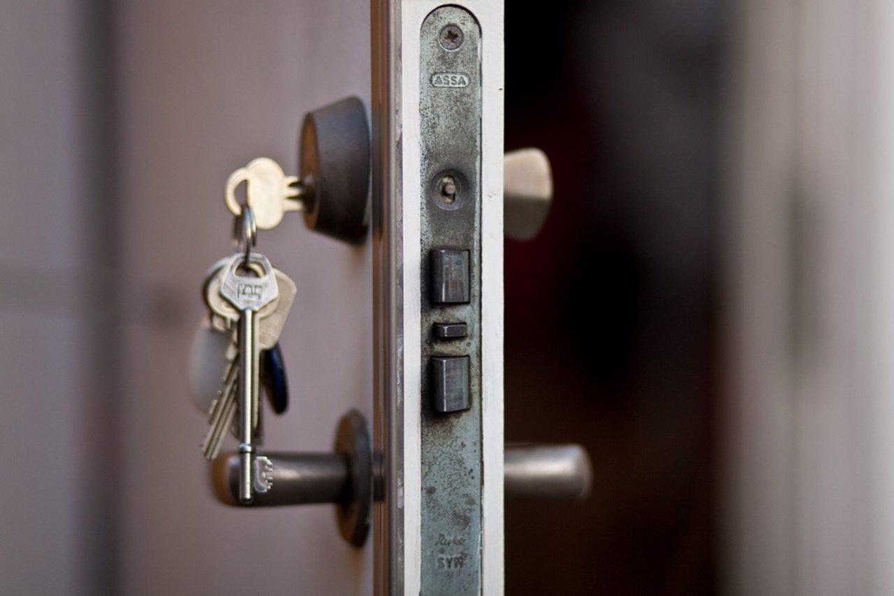 Llaves en la puerta