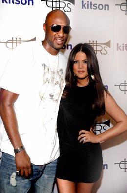 La 'celebrity' Khloe Kardashian y su marido, el jugador de baloncesto Lamar Odom