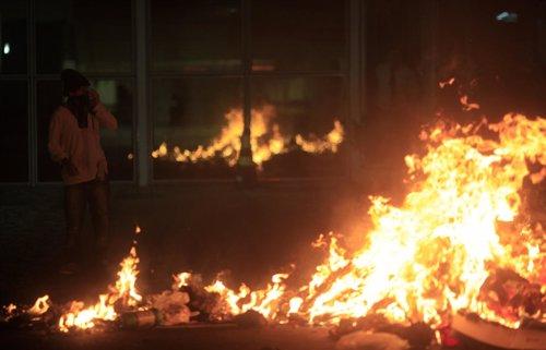 Más de 300 detenidos y decenas de heridos en disturbios en Brasil