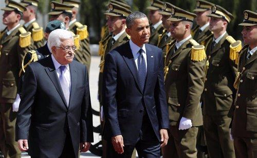 Barack Obama y Mahmud Abbas