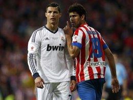 Cristiano Ronaldo y Diego Costa en la final de Copa entre Real Madrid y Atlético