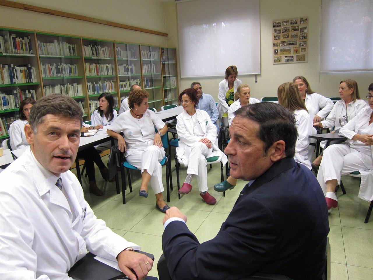 Eiros Bouza (i) junto a Sáez Aguado
