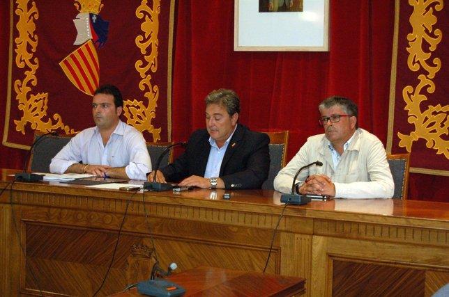 Los alcaldes de Benicarló, Vinaròs y Peñíscola