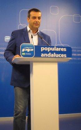 El portavoz de Función Pública del PP-A, Rafael Ruiz Cantos, hoy en Sevilla