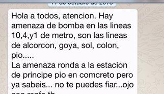 Investigan los mensajes y las llamadas alertando de bombas en Madrid