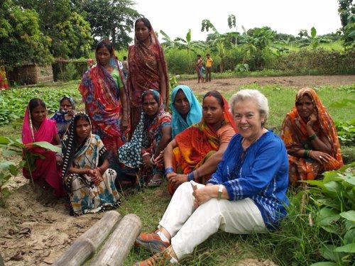 Soledad Suárez en India. Foto:Marta Isabel González/Manos Unidas