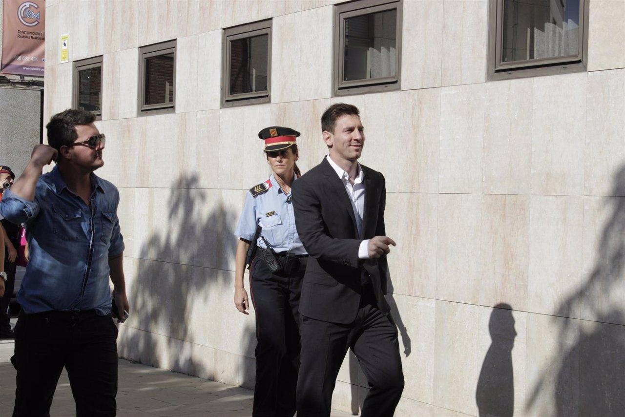 Leo Messi en los juzgados de Gavà (Archivo)