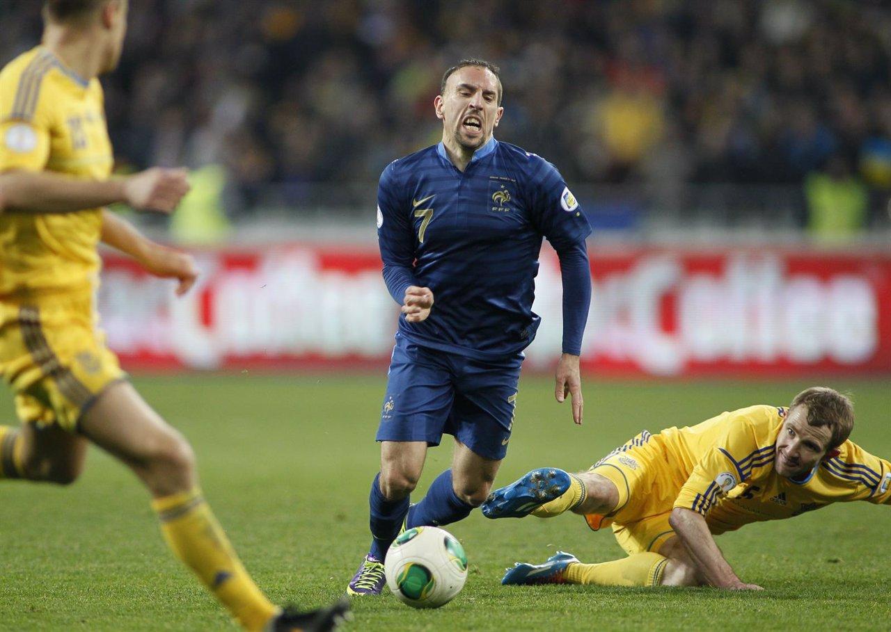 Franck Ribery en el Ucrania - Francia