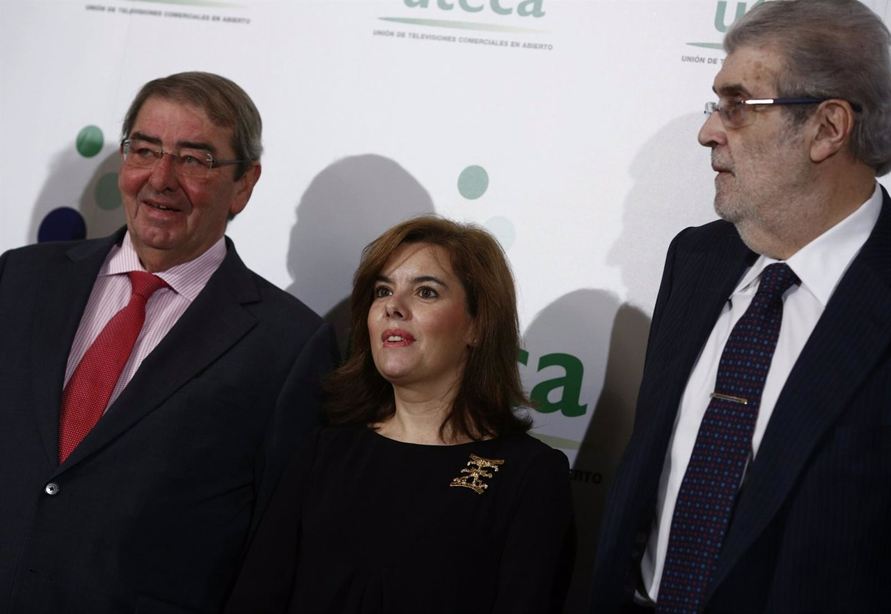 Soraya Sáenz de Santamaría en un acto de UTECA