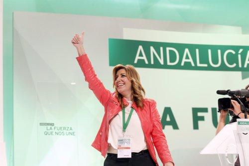 Susana Díaz en el Congreso del PSOE-A