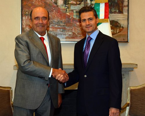 Emilio Botín con Enrique Peña Nieto