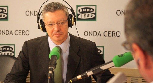 Gallardón en una entrevista en Onda Cero