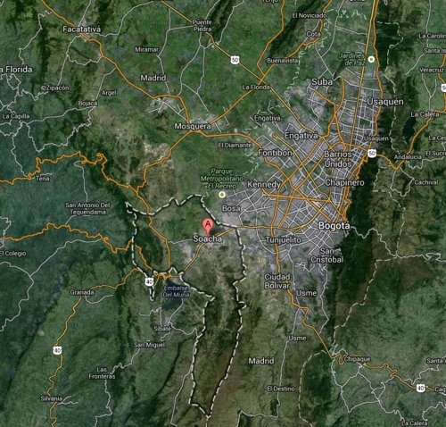 Mapa de Cundinamarca, Colombia