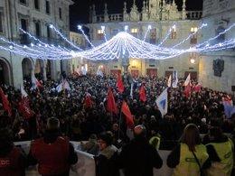 Manifestación por la sanidad pública en Santiago de Compostela