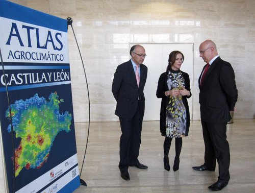 Ruiz Medrano, Clemente y López González presenta el Atlas Agroclimático de CyL
