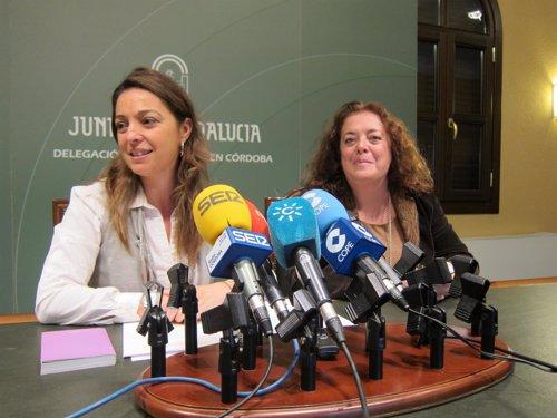 Ambrosio y Aguilar en la rueda de prensa
