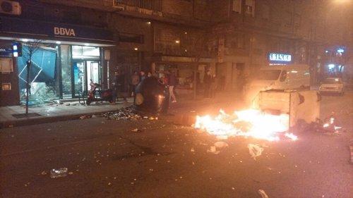 Desperfectos en Burgos durante una manifestación