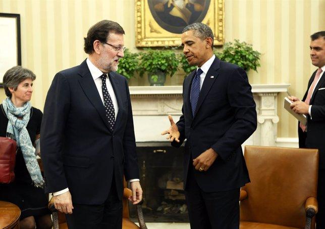 ORajoy y Obama en el despacho Oval