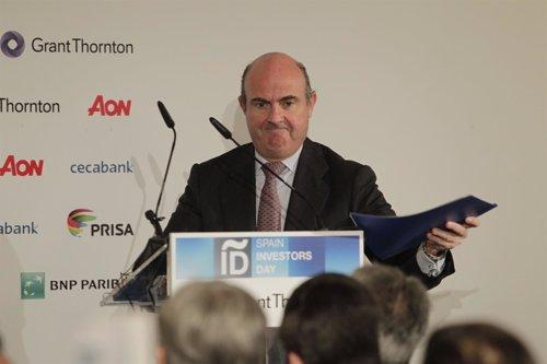 Ministro de Economía, Luis de Guindos, en el Spain Investor's Day