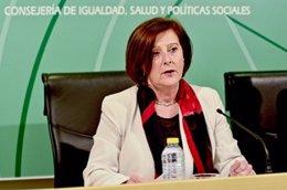María José Sánchez Rubio, en rueda de prensa