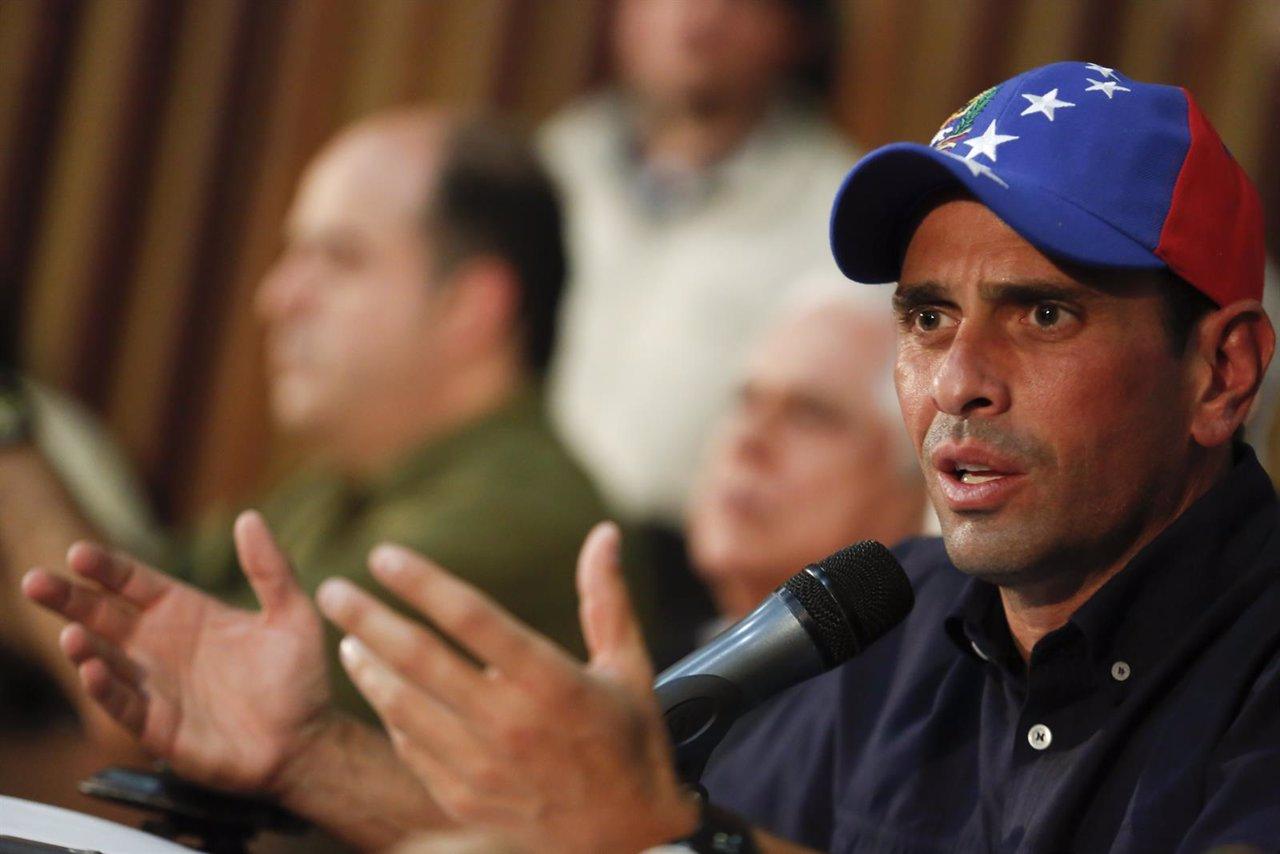 El lider de la oposición venezolana, Henrique Capriles.